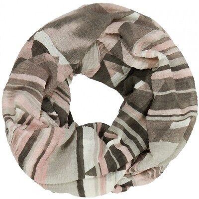 CASPAR Damen Vintage LOOP Schal Schlauchschal Winter Streifen Azteken Print