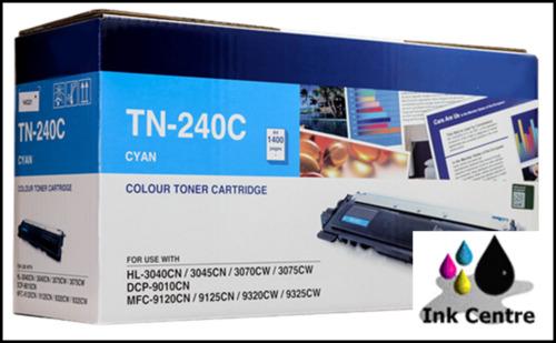 1 of 1 - Brother Genuine TN 240C Cyan Toner Cartridge DCP9010CN HL3070CW HL3040 3045 MFC