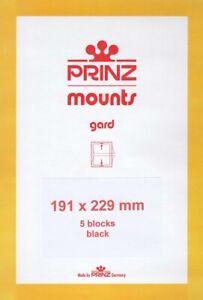 Glorieux Prinz Stamp Mounts 191x229 Noir Arrière Pour Célébrer Le Siècle 5 Blocs Scott-afficher Le Titre D'origine