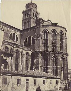 Venezia-Santa-Maria-Gloriosa-Dei-Frari-Italia-Foto-2-Vintage-Albumina-Ca-1875