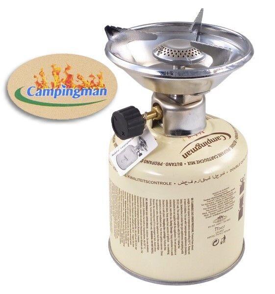 Réchaud CAMPINGMAN Incl. 500 g BUTANGAS Camping Réchaud à Pique-Réchaud à Réchaud gaz 5e784f