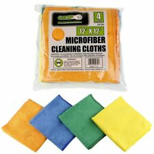 """Uline Microfiber Glass and Mirror Cleaning Cloth 16/"""" x 16/""""  S-12811 4 pack"""