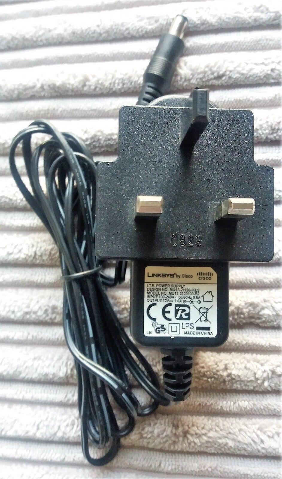 Linksys I.T.E Power Supply MU-2120100-B2 12V 1.0A