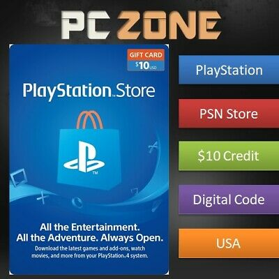10 Playstation Store Usd Card Ps Psn Us Store Instant Code