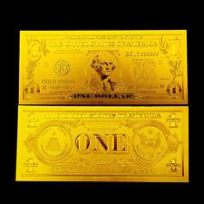 1$ US DOLLAR BANKNOTE REPLICA GOLD 24K
