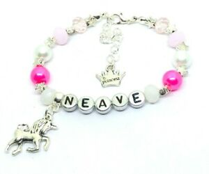 Magical Mermaid or Unicorn Charm Bracelet ~ Great Gift idea ~ Beaded stretch