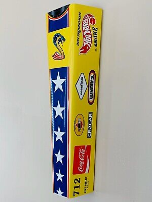WOW!!!Curved SNAKE RACE CAR DRAG RACING Door Style Sign DRAGSTER Don Prudhomme