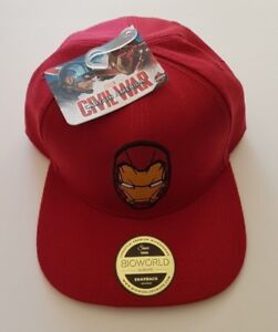 Bioworld Official Marvel Iron Man Snapback Cap Captain America Civil ... 5e3733bf1138