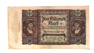 1923 Germany Hyper Inflation 2.000.000  Mark Banknote