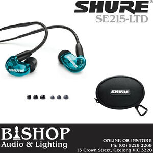 SHURE SE215-LTD In-Ear Sound Isolating Earphones - Blue