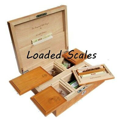 WOLF PRODUCTION ROLLING BOXES STASH BOX deluxe smoking smokers stash wood wooden