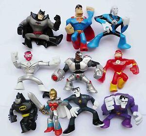 T386-10-PC-Dc-Batman-SUPERMAN-FLASH-cyborg-wonder-woman-Action-League-Figure