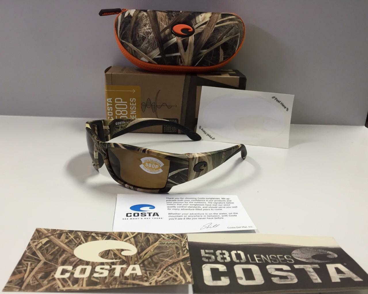 New Costa Del Mar Corbina Polarized Sunglasses 580P Mossy Oak SGB Camo Amber
