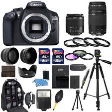 Canon EOS 1300D / Rebel T6 Camera + 18-55mm + 75-300mm + 30 Piece Bundle