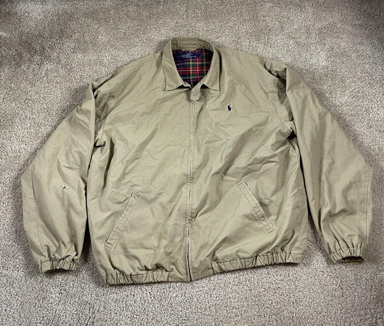 Vtg Polo Ralph Lauren Harrington Jacket Full Zip … - image 1