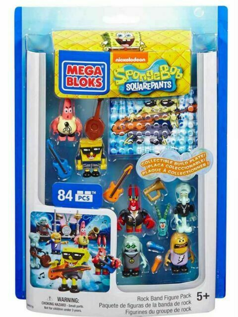 Mega Bloks SpongeBob Rock Band 2014 Boys and Girls Figure Pack 5+