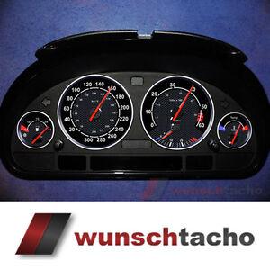 Tachoscheibe-fuer-BMW-E38-E39-E53-X5-034-Black-Carbon-034-Diesel
