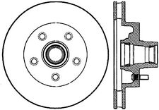 127.66000r StopTech - Drilled and Slotted Sport Front Passenger Side Brake Rotor