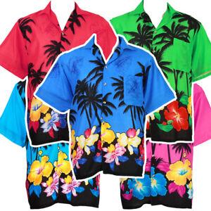 3cf580cfa01a6 Image is loading Hawaiian-Shirt-Aloha-Coconut-Big-Flower-Beach-Holiday-