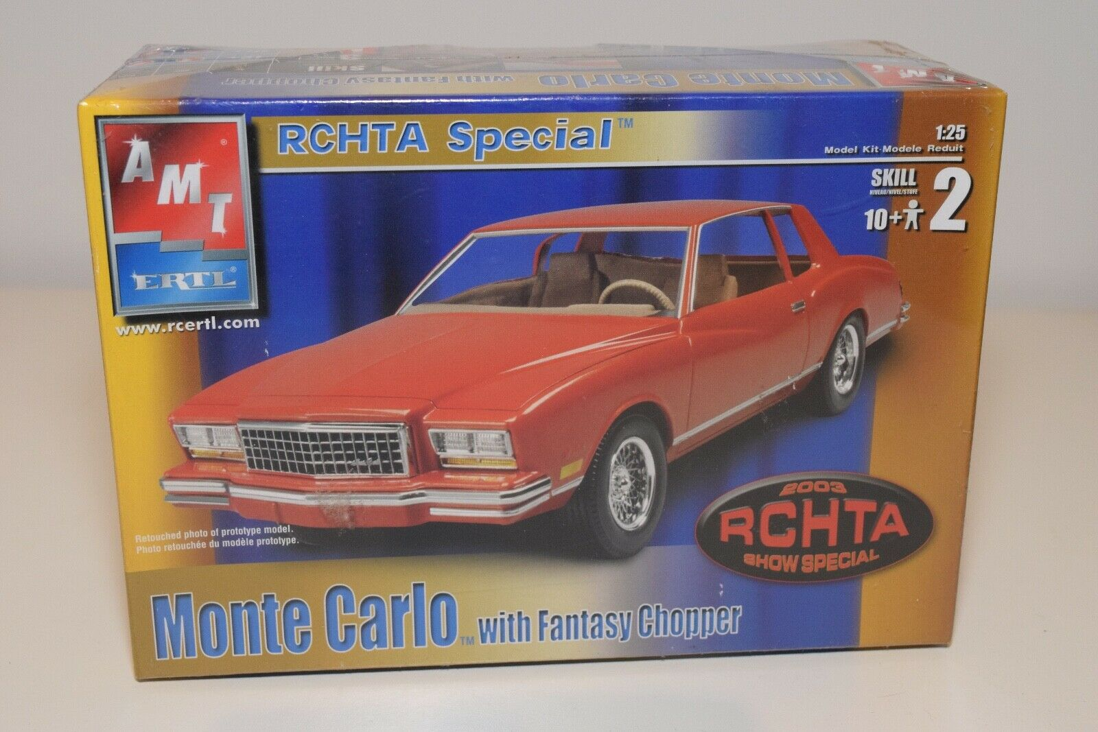 HH 1 25 AMT KIT CHEVROLET CHEVY MONTE CARLO RCHTA SHOW 2003 MINT BOXED SEALED 2