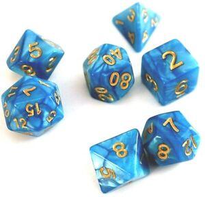 RPG-Wuerfel-Set-7-teilig-Poly-Tabletop-DnD-Blau-dice4friends-w4-w20-Rollenspiel