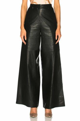 Women/'s Sheepskin Best Selling Premium Leather Pant Slim Fit Black Cropped Pants