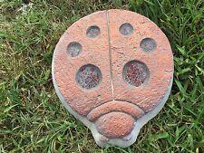 Ladybug concrete plaster cement stepping stone mold