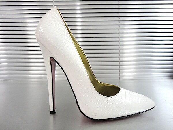 MORI MADE IN ITALY SKY HIGH SEXY HEELS HEELS HEELS PUMPS zapatos KROCO LEATHER BEIGE NUDE 45  ventas directas de fábrica