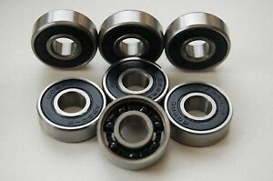 PREMIUM-HYBRID-627-RS-CERAMIC-INLINE-QUAD-SKATE-SCOOTER-Si3N4-BEARINGS-7x22x7