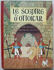 Tintin Le Sceptre d'Ottokar HERGE éd Casterman B2 1948
