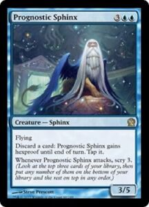 Prognostic Sphinx FOIL Theros NM-M Blue Rare MAGIC THE GATHERING CARD ABUGames