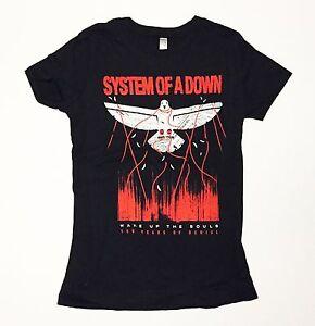 43ca2133 System Of A Down - Wake Up The Souls - Women's Juniors Medium Black ...