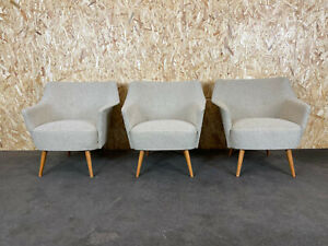 3x-60er-50er-Jahre-Sessel-Cocktailsessel-Easy-Chair-Mid-Century-Design-60s-50s