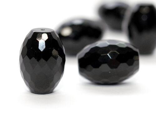Onyx-faceteados olivenform negro//1723s 18x24 mm