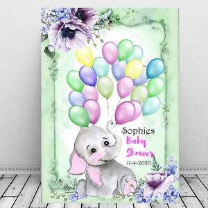 Personalised-Baby-Shower-Cute-Baby-Elephant-Guest-Sign-In-Print-Balloons