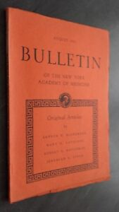 Notiziario Of I York Academy Of Medicina August 1951 ABE