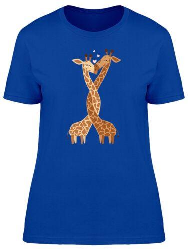 Cute Giraffe Couple Tee Women/'s Image by Shutterstock