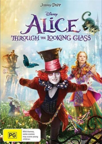 1 of 1 - Alice Through The Looking Glass (Dvd) Adventure Family Fantasy Johnny Depp Film