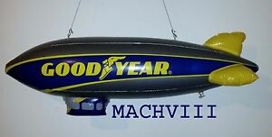 """NEW Style GOODYEAR Inflatable BLIMP 33"""" NIP Display with Scalextric SCX LIONEL"""