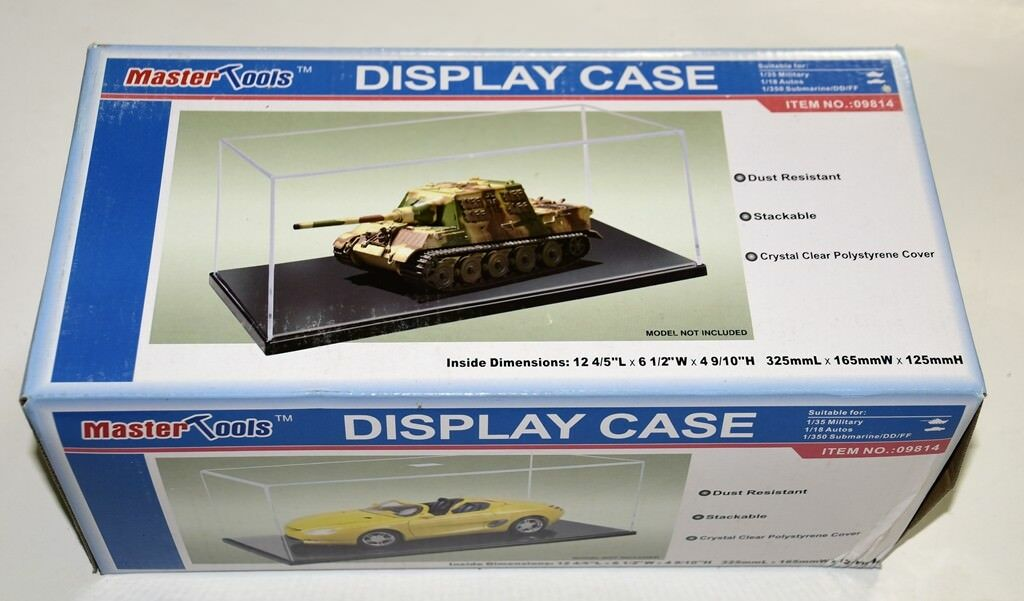 09814 Trumpeter Display Case Box 325X165X125MM Showcase for Model Aircraft Tank