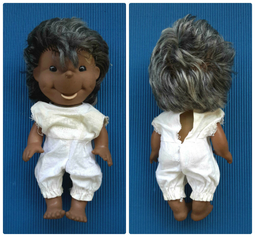 1960s-1970s Vintage GDR East Germany Big Größe Rubber Toy Doll HEDGEHOG Girl