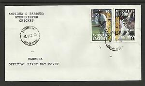 BARBUDA MAIL OPT 2000 LORD'S CRICKET 100th TEST MATCH Sir Viv Richards 2v FDC