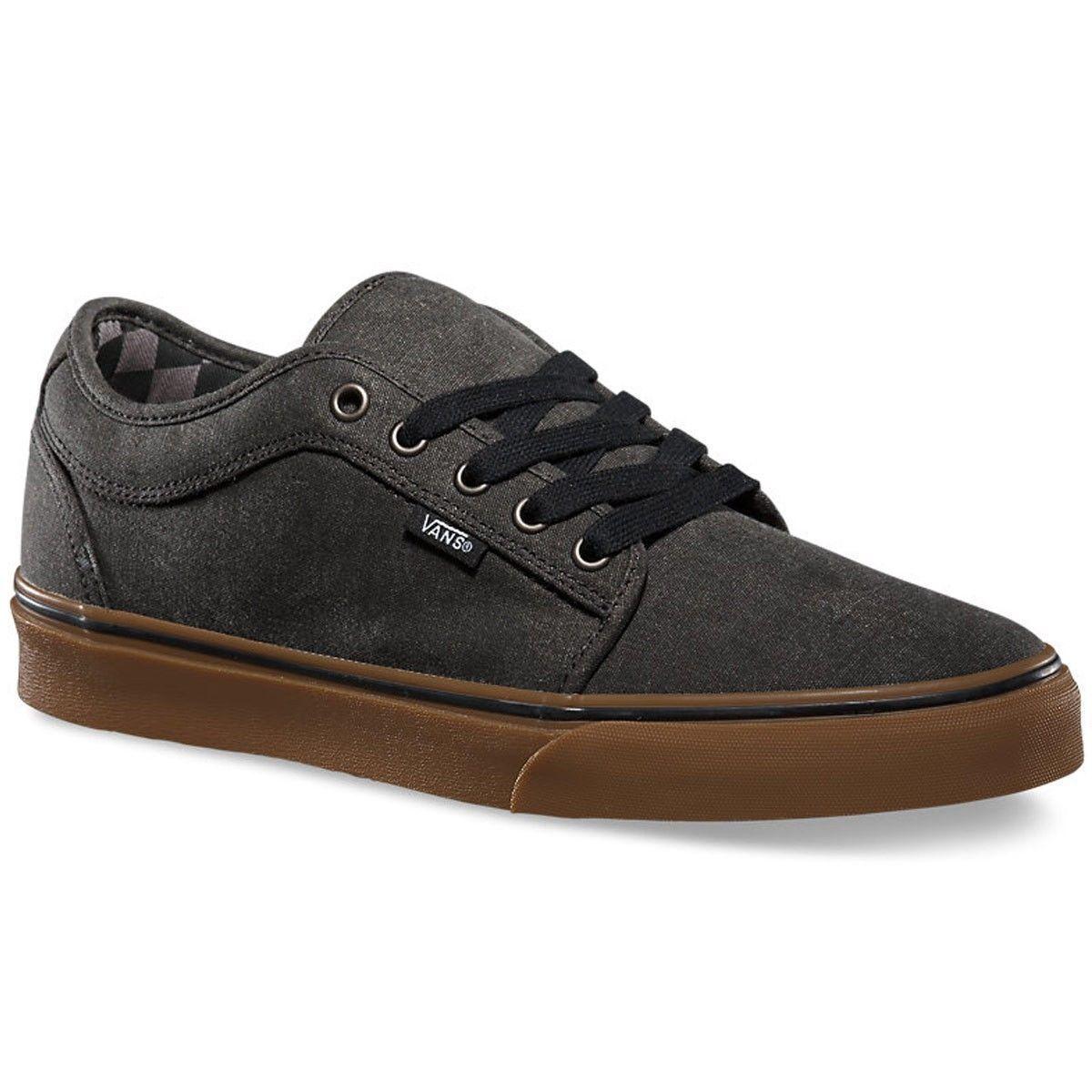 VANS Chukka Low 6.5 (Washed) Black/Gum Classic Skate Shoes MEN'S 6.5 Low WOMEN'S 8 29714b