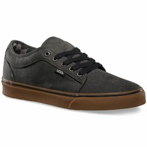f50e69a386c VANS Chukka Low (Washed) Black Gum Classic Skate Shoes MEN S 6.5 ...