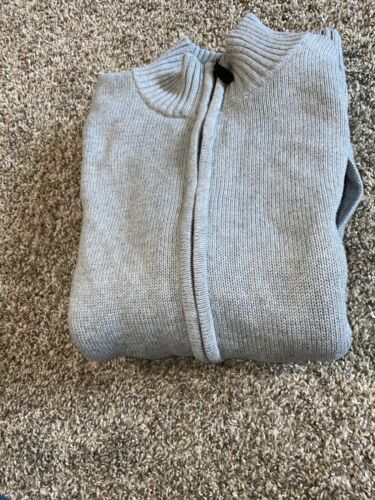 ll bean Mens Medium Gray Full Zip Sweater - image 1