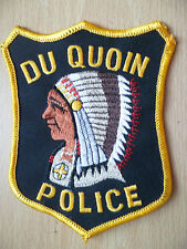 Patches:  DU QUOIN CANADA POLICE PATCH (NEW, approx. 4.8x3.12 inch)