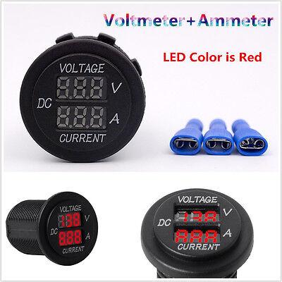 Red LED Panel Digital Voltage Current Tester Ammeter Display Voltmeter Car Motor