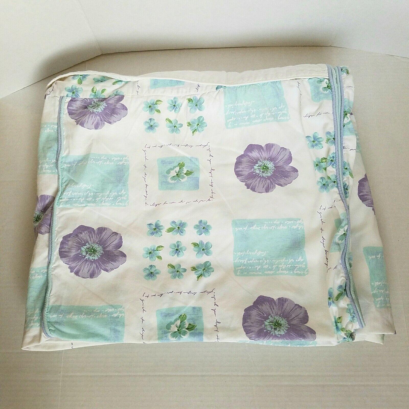 Vintage MATCH 100% Cotton Full Königin Duvet Startseite Floral Multi-Farbe