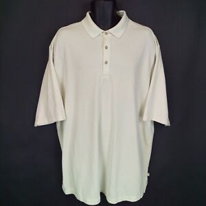 Tommy-Bahama-Men-039-s-XLT-Beige-Striped-Modal-Blend-Short-Sleeve-Polo-Shirt-EUC