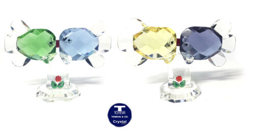 "SPECIAL OFFER ""Kissing Fish"" Austrian Crystal FIgurine was AU$80.00"